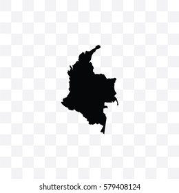 A Country Shape Illustration of Colombia