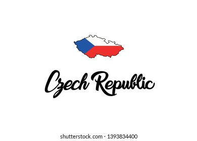 A Country Shape Illustration of Czech Republic