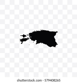 A Country Shape Illustration of Estonia