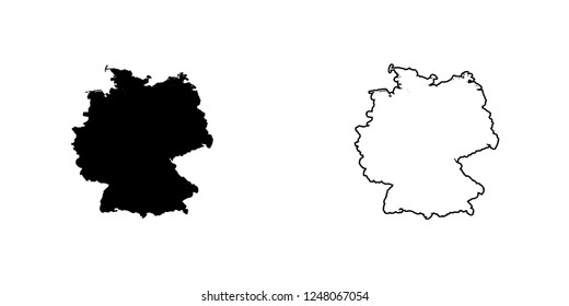 A Country Shape Illustration of Germany Germany