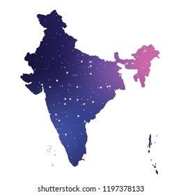 A Country Shape Illustration of India