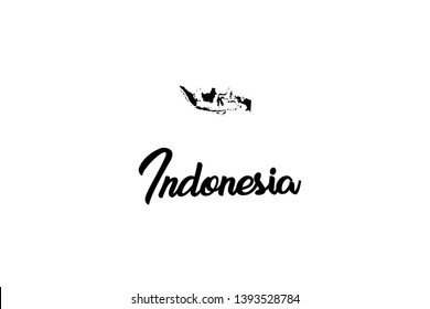 A Country Shape Illustration of Indonesia