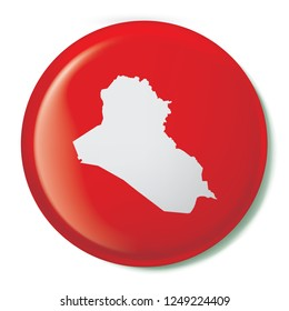 A Country Shape Illustration of Iraq