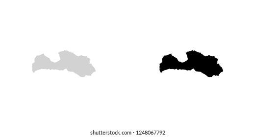 A Country Shape Illustration of Latvia