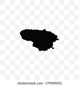 A Country Shape Illustration of Lithuania