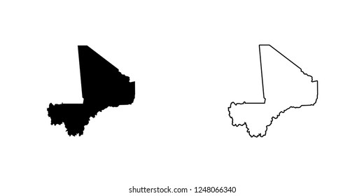 A Country Shape Illustration of Mali Mali