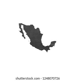 A Country Shape Illustration of Mexico