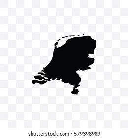 A Country Shape Illustration of Netherlands