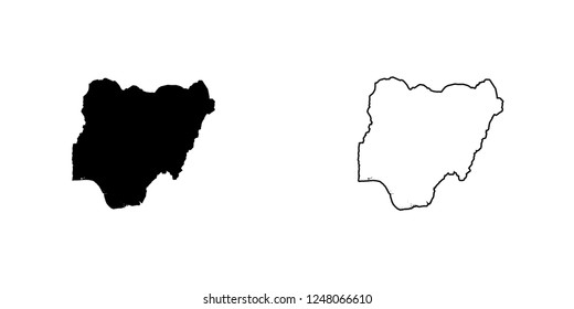 A Country Shape Illustration of Nigeria Nigeria