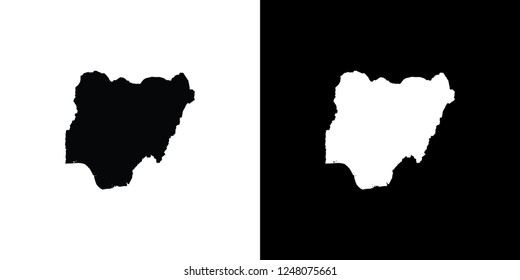 A Country Shape Illustration of Nigeria