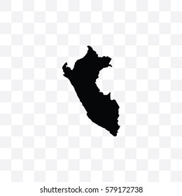 A Country Shape Illustration of Peru
