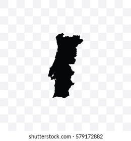 A Country Shape Illustration of Portugal