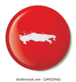 A Country Shape Illustration of Russia