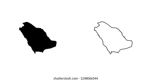 A Country Shape Illustration of Saudi Arabia Saudi Arabia