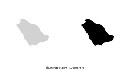 A Country Shape Illustration of Saudi Arabia