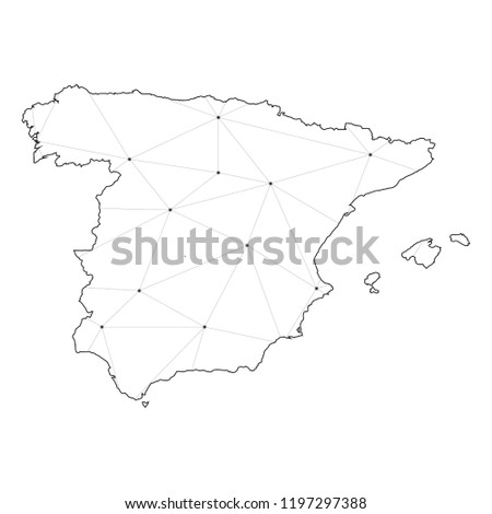 A Country Shape Illustration of Spain