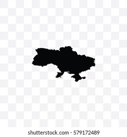 A Country Shape Illustration of Ukraine