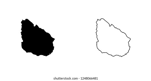 A Country Shape Illustration of Uruguay Uruguay
