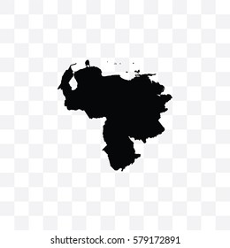A Country Shape Illustration of Venezuela
