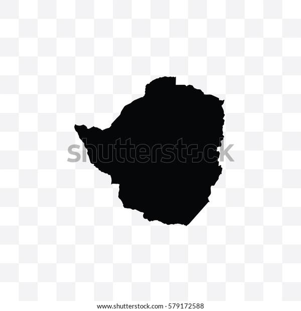 A Country Shape Illustration of Zimbabwe
