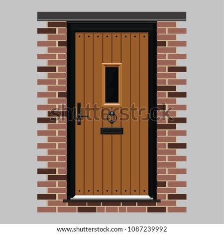 Country Style Exterior Door Stock Vector Royalty Free 1087239992
