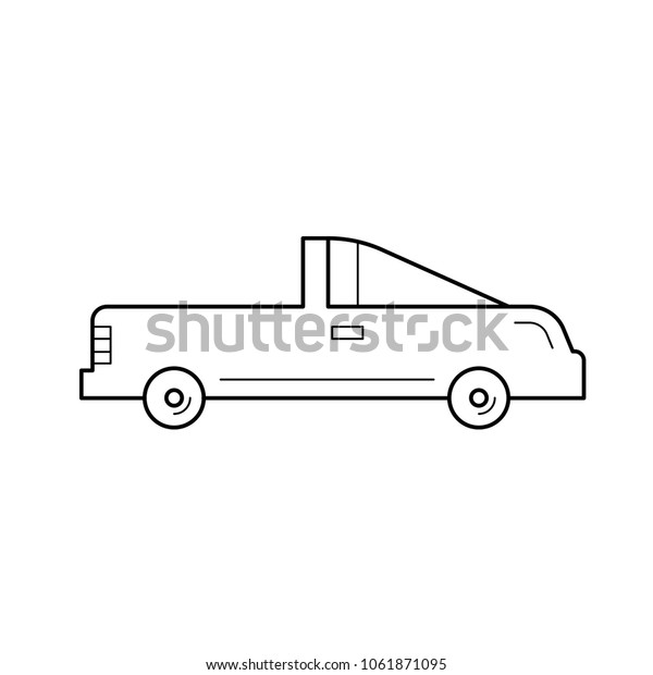 Coupe Car Vector Line Icon Isolated Stock Vector Royalty