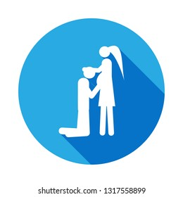 couple in anticipation of baby icon. Element of life married people illustration. Signs and symbols collection icon for websites, web design on white background