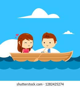 A couple in a boat