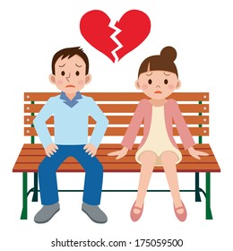 Breakup Cartoon Hd Stock Images Shutterstock