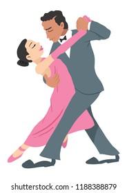 a couple dancing the fandango