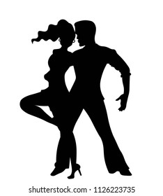 Dance Salsa Silhouettes Images Stock Photos Vectors Shutterstock