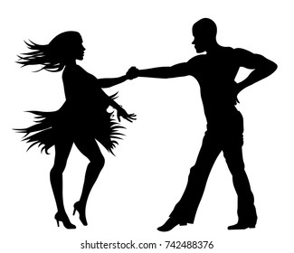 Latin Dancing Silhouette Images Stock Photos Vectors Shutterstock