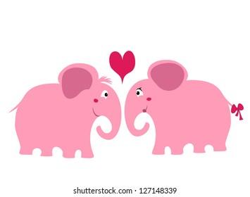 couple of elephants in love