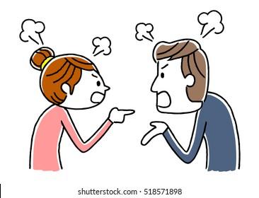 couple: fight, dispute