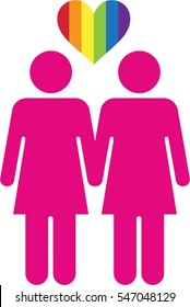 Couple gay homosexual marriage men rainbow relationship icon