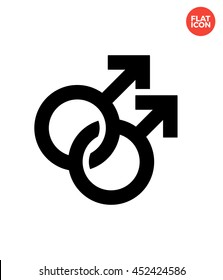 Couple gay Icon Flat Style Isolated Vector Illustration