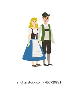 Couple In German National Clothes