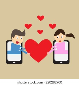 Long Distance Dating Stock Illustrations, Images & Vectors