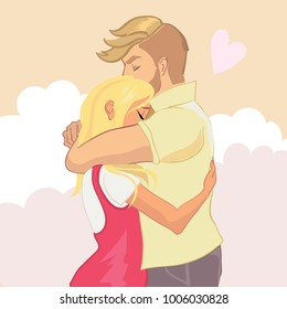 Couple Hugging Images Stock Photos Vectors Shutterstock