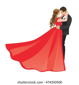 Prom , Couple Dress Western transparent background PNG clipart | HiClipart