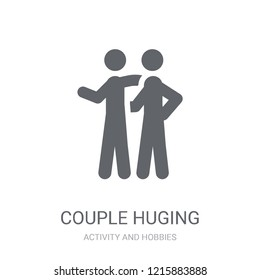 Couple Huging icon. Trendy Couple Huging logo concept on white background from Activity and Hobbies collection. Suitable for use on web apps, mobile apps and print media.