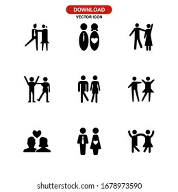 couple icon or logo isolated sign symbol vector illustration - Collection of high quality black style vector icons