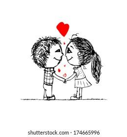 57 Romantic Couple Drawing Wallpaper Gratis Terbaru