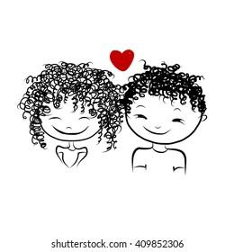 Couple Sketch Images Stock Photos Vectors Shutterstock