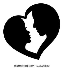 Couple in love, vector logo