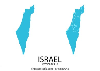 Couple Set Map - Blue Map of Israel.