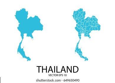 Couple Set Map - Blue Map of Thailand.