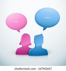 Couple speech bubble icon