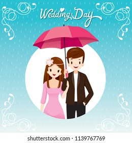 Couple Under Umbrella Together In The Rain, They Happy Rainy Season, On Circle Frame, Monsoon, Raindrop, People, Relationship, Clothing