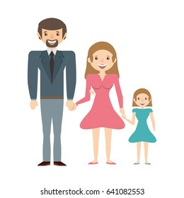 couples family daughter